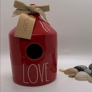 Rae Dunn Red Love Birdhouse